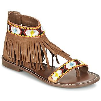 Schoenen Dames Sandalen / Open schoenen Metamorf'Ose ZACCIN Bruin