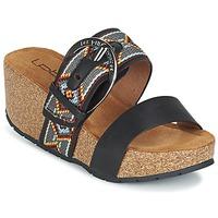 Schoenen Dames Leren slippers LPB Shoes GLYCINE Zwart