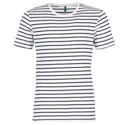 Textiel Heren T-shirts korte mouwen Benetton MAKOUL Blauw / Wit