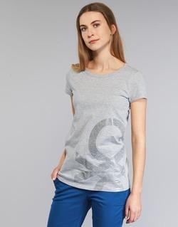 Textiel Dames T-shirts korte mouwen Benetton MADOUL Grijs