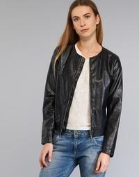 Textiel Dames Leren jas / kunstleren jas Benetton JANOURA Zwart