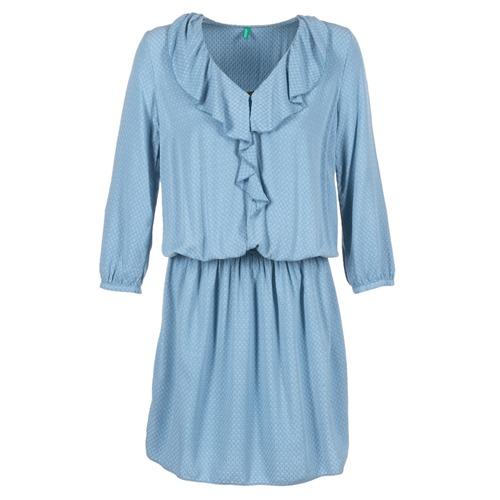 Textiel Dames Korte jurken Benetton AFIDOUL Blauw