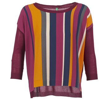 Textiel Dames Truien Benetton OVEZAK Bordeau / Multicolour