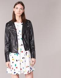 Textiel Dames Leren jas / kunstleren jas Benetton FAJOLI Zwart