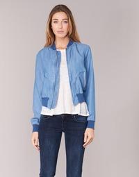 Textiel Dames Spijker jassen Benetton FERMANO Blauw / Medium