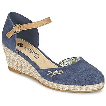 Schoenen Dames Sandalen / Open schoenen Dockers by Gerli AFINOUDE Blauw