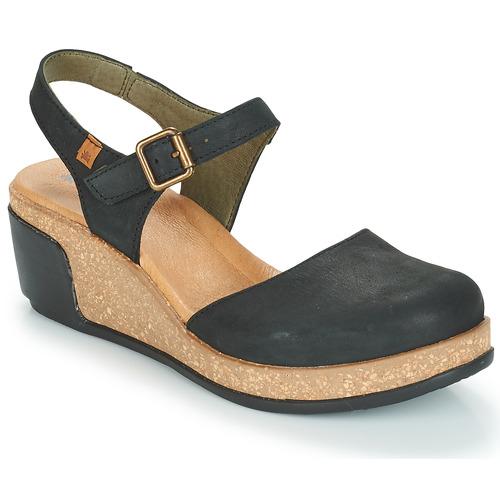 fa23ff67cbe Schoenen Dames Sandalen / Open schoenen El Naturalista LEAVES Zwart