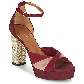 Schoenen Dames Sandalen / Open schoenen Heyraud EVELINE Rood / Roze / Goud