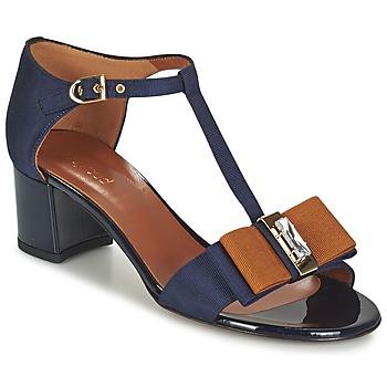 Schoenen Dames Sandalen / Open schoenen Heyraud ENAEL Blauw / Bruin / Zwart