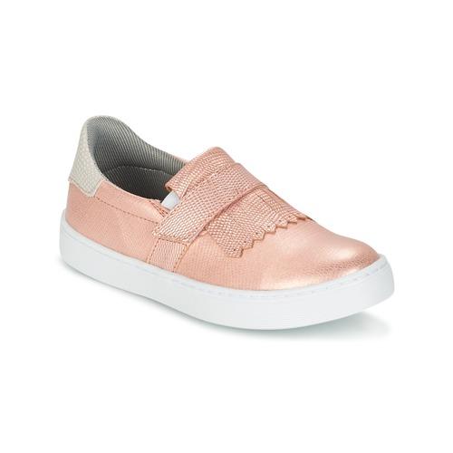 Schoenen Meisjes Instappers Bullboxer ADJAGUE Roze / Goud