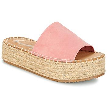Schoenen Dames Leren slippers Coolway BORA Roze