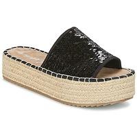 Schoenen Dames Leren slippers Coolway BORABORA Zwart