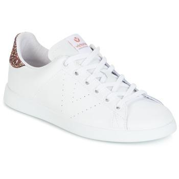 Schoenen Dames Lage sneakers Victoria DEPORTIVO BASKET PIEL Wit / Roze / Glitter