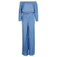 Textiel Dames Jumpsuites / Tuinbroeken MICHAEL Michael Kors TENCEL OFF SHDR JUMPSUIT Blauw
