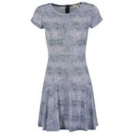Textiel Dames Korte jurken MICHAEL Michael Kors ZEPHYR SS FLARE DRS Blauw / Wit