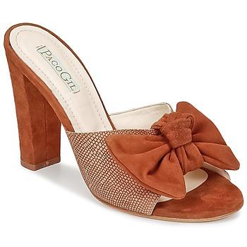 Schoenen Dames Leren slippers Paco Gil BRAZIL Bruin
