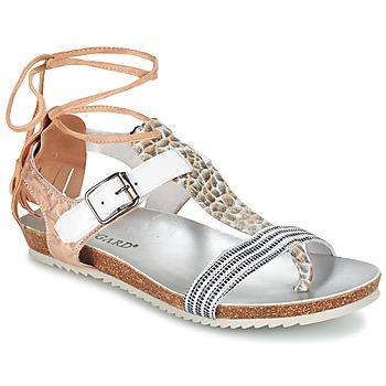 Schoenen Dames Sandalen / Open schoenen Regard RABALU Wit / Beige / Slang