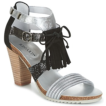 Schoenen Dames Sandalen / Open schoenen Regard RIKA Zilver / Zwart