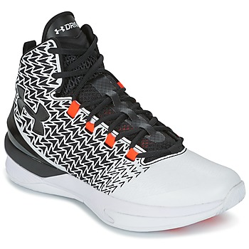 Schoenen Heren Basketbal Under Armour UA ClutchFit Drive 3 Wit / Zwart / OranJe
