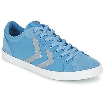 Schoenen Lage sneakers Hummel DEUCE COURT SUMMER Blauw / Grijs