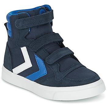 Schoenen Kinderen Hoge sneakers Hummel STADIL CANVAS HIGH JR Marine