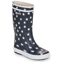 Schoenen Kinderen Regenlaarzen Aigle LOLLY POP PRINT Marine / Multi