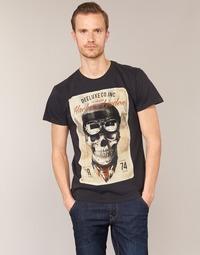 Textiel Heren T-shirts korte mouwen Deeluxe CLEM Grijs / Beige
