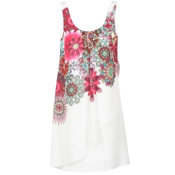 Textiel Dames Korte jurken Desigual LIORASE Wit / Rood / Roze