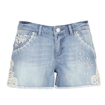 Textiel Dames Korte broeken / Bermuda's Desigual MARTESSA Blauw