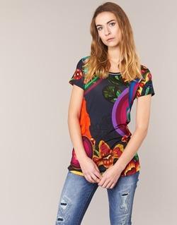 Textiel Dames T-shirts korte mouwen Desigual GRIZELLO Multi