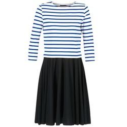 Textiel Dames Korte jurken Petit Bateau FINALLY Wit / Blauw