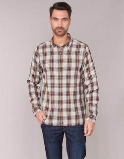 Textiel Heren Overhemden lange mouwen Dickies HARRELL Wit / Bruin