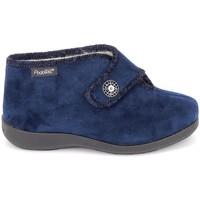 Schoenen Dames Sloffen Fargeot Caliope marine Blauw