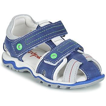 Schoenen Jongens Sandalen / Open schoenen Babybotte KARTER Blauw / Groen / Grijs