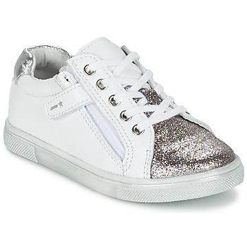 Schoenen Jongens Lage sneakers Babybotte KRAZY Wit / Zilver
