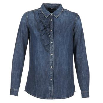 Textiel Dames Overhemden Diesel DE KELLY Blauw