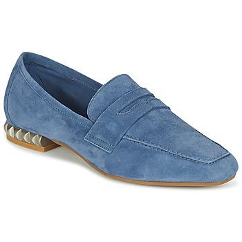 Schoenen Dames Mocassins Perlato KAMINA Blauw