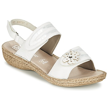 Schoenen Dames Sandalen / Open schoenen Rieker MIOLOI Wit
