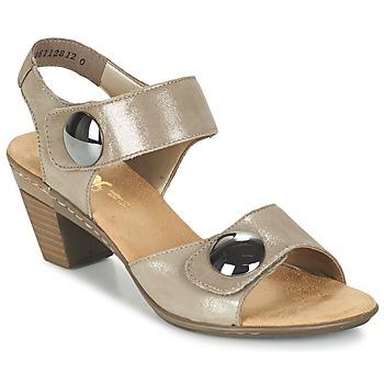 Schoenen Dames Sandalen / Open schoenen Rieker GERITEDO Grijs