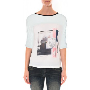 Textiel Dames T-shirts & Polo's Coquelicot Tee shirt   Blanc 16409 Wit