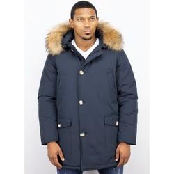 Textiel Heren Parka jassen Enos Bontjassen - Heren Winterjas Wooly Lang - Grote XL Bontkraag - P 19