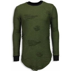 Textiel Heren Sweaters / Sweatshirts John H Destroyed Look Trui - New Trend Long Fit Sweater 25