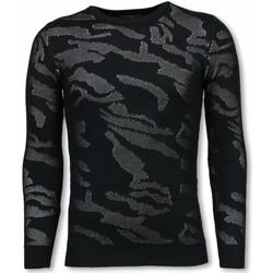Textiel Heren Truien Justing D Camouflage Patroon Neon Pullover Zwart
