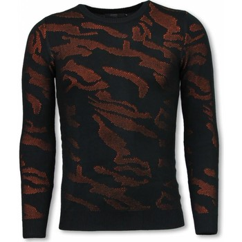 Textiel Sweaters / Sweatshirts Justing D Camouflage Patroon Neon Pullover Oranje Zwart, Oranje