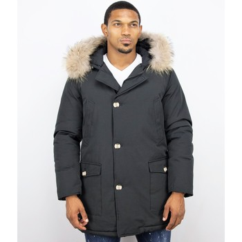 Textiel Heren Parka jassen Enos Bontjassen - Heren Winterjas Wooly Lang - Grote XL Bontkraag - P 38