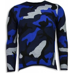 Textiel Heren Sweaters / Sweatshirts Justing Dazzle Paint Camouflage Long Fit Blauw