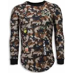 Textiel Heren Sweaters / Sweatshirts John H 23th US Army Camouflage Shirt - Long Fit Sweater 28
