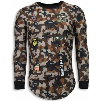 Textiel Heren Sweaters / Sweatshirts Justing 23th US Army Camouflage Shirt - Long Fit Sweater - Bruin