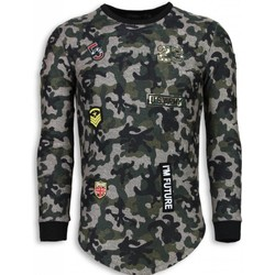 Textiel Heren Sweaters / Sweatshirts John H 23th US Army Camouflage Shirt - Long Fit Sweater 25