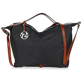 Tassen Dames Handtassen kort hengsel Texier T&T Zwart